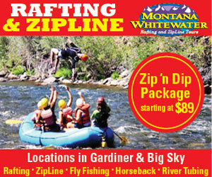 Montana Whitewater & Yellowstone ZipLine Tours - Rafting adventures on three of Montana's best rivers (Gallatin, Yellowstone & Madison), plus horseback riding near Gardiner and Big Sky/Bozeman. Zipline tours also available in both locations (new in 2014).