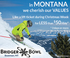 Bridger Bowl - get more skiing at Christmas - With new upgraded lifts (2013-14), our new Alpine Cabin ready this 2014-15 winter (for mid-mountain dining & gathering), our skiing experience is better and better in Bozeman. Now, during Christmas week, buy a 3-day lift pass, priced at less than $50/day.