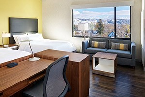 """Element by Westin - Bozeman downtown luxury :: Luxuriate in eco-friendly upscale accommodations featuring interior amenities like our Heavenly® Bed, 42"""" flatscreens, complimentary evening snacks & drinks and meeting space."""