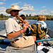 Wildlife River Safaris - fun and interactive - Private all-day & multi-day river floats along the Lewis & Clark Trail in custom boat. Expert guides, wildlife, history, solitude, swimming. Family fun. History buff delight.