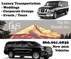 Big Sky Shuttle, Inc Luxury Transportation Service - Connects clients from Big Sky and Bozeman to destinations throughout Montana and nearby states. We provide airport service from Bozeman Yellowstone International Airport and other neighboring airports including Ennis and West Yellowstone. Pre-arrange corporate travel and unique memorable excursions.