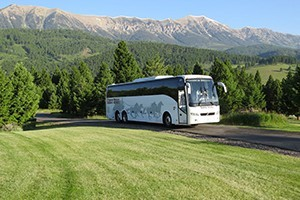 Karst Stage Transportation - for Billings events :: For 100 years, we are Montana's authority on transportation, whether it be for 1000 convention attendees or 10-special VIPs. Enjoy new, comfortable vehicles in all sizes.