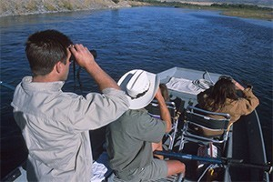 Wildlife River Safaris - fun and interactive :: Private all-day & multi-day river floats along the Lewis & Clark Trail in custom boat. Expert guides, wildlife, history, solitude, swimming. Family fun. History buff delight.