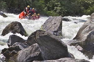 Montana Whitewater's Beartrap Wilderness Raft Trip :: Remote and scenic, this river flows out of Ennis Lake and through a steep, rocky canyon. Amazing scenery, great rapids, peaceful floating, top guides and gourmet lunch.