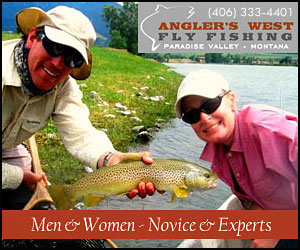 Anglers West Guide Service - Paradise Valley MT : Select from daily guided trips or custom multi-day adventures on the Yellowstone, Madison and local Spring Creeks. Full-service shop & daily reports, plus lodging referrals.
