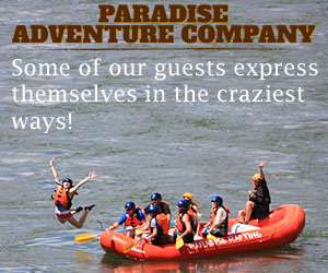 Paradise Adventures : Paradise Adventure Company offers the best combination of scenic raft and wild whitewater trips, plus 'Saddle & Paddle' combos, Park tours and on-the-river home rental lodging. Or, package them together and save even more. Located in Gardiner at Yellowstone's north entrance