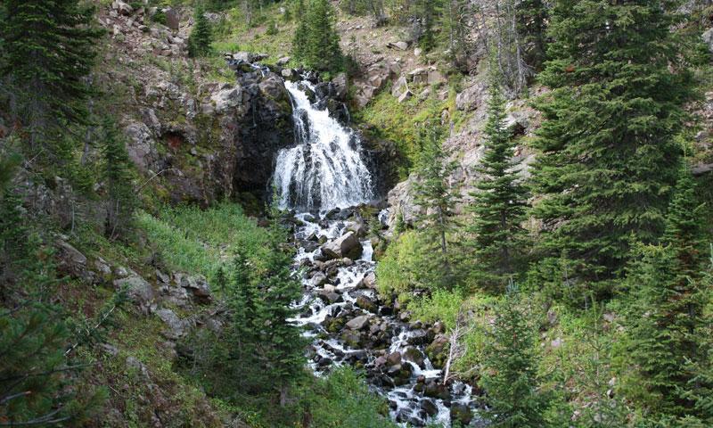 Waterfall in Bear Canyon near Bozeman