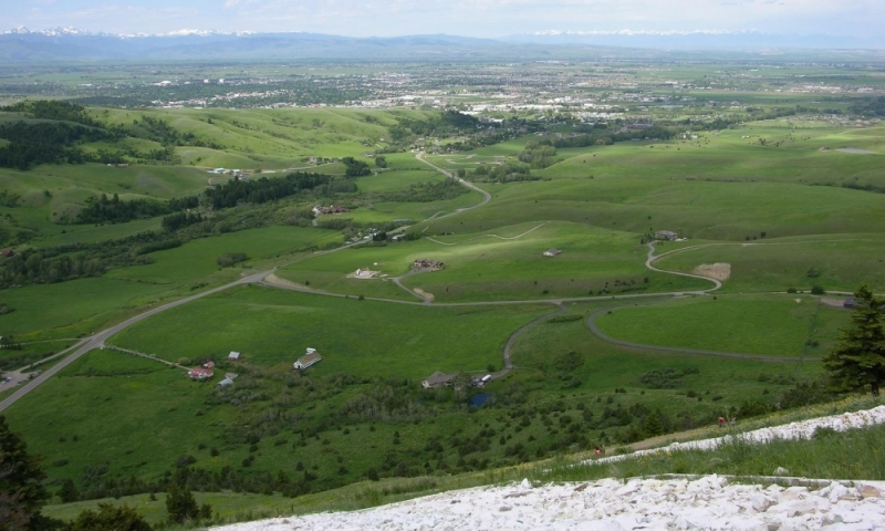 A view of Bozeman from the M