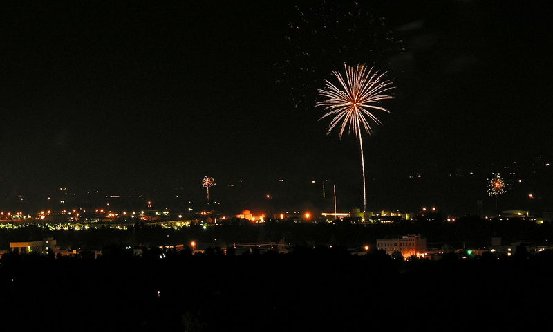 4th of July Fireworks in Bozeman Montana