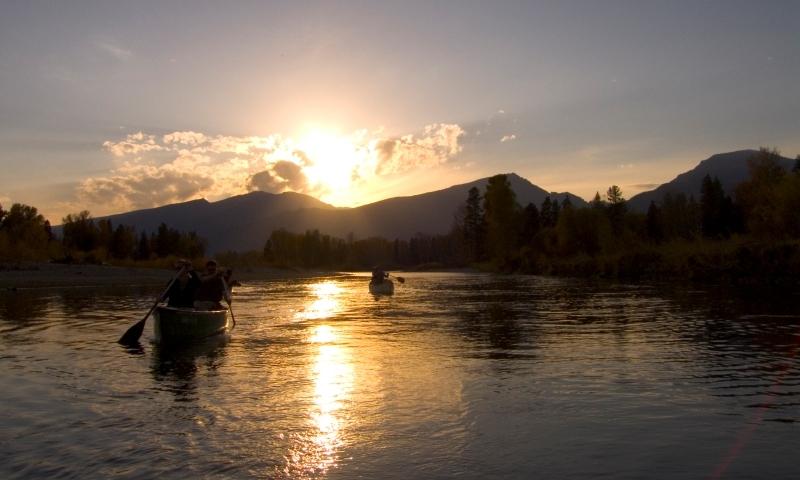 Bitterroot Mountains Montana River Missoula Canoeing Canoe