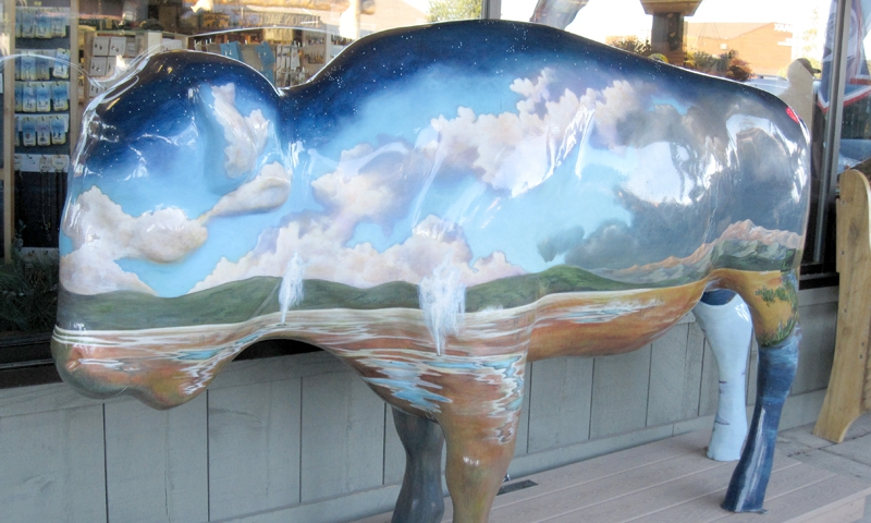 Painted Buffalo in Downtown West Yellowstone