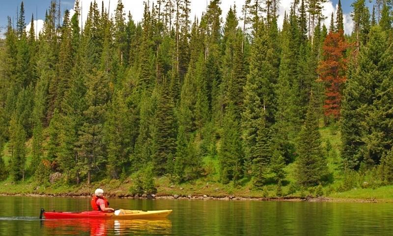 Bozeman Kayaking Hyalite Reservoir