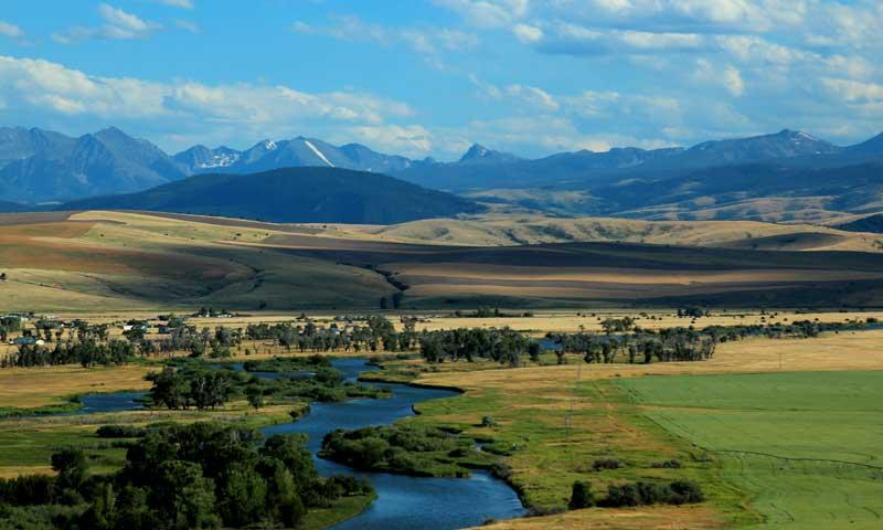 The Madison River near Three Forks Montana