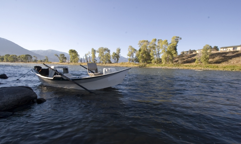 Drift Boat on the Yellowstone