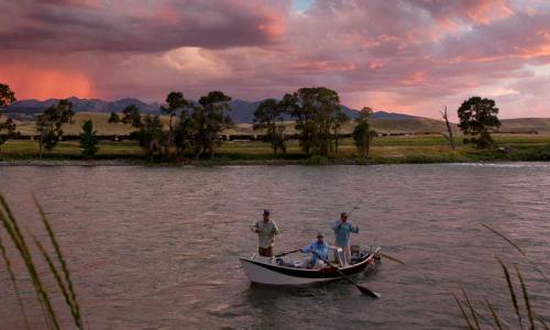 Drift Boat Fishing on the Yellowstone River near Emigrant Montana