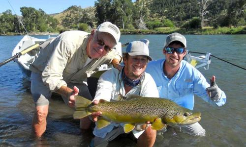 Fly Fishing with Lone Peak Outfitters near Springdale Montana