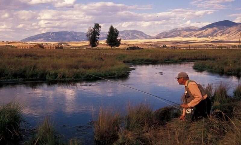 Fishing along Milesnick Spring Creek