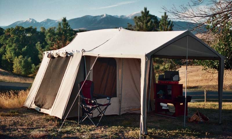 Glamping along the Yellowstone River in Montana
