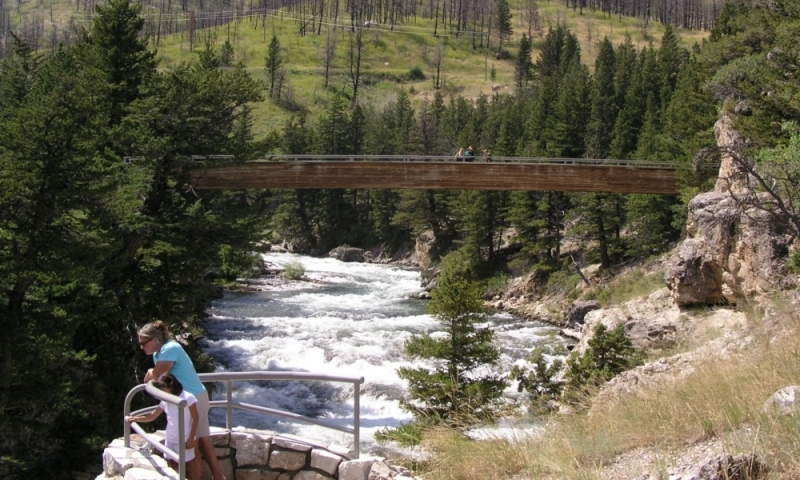 Natural Bridge Falls Boulder River Yellowstone National Park Big Timber Montana