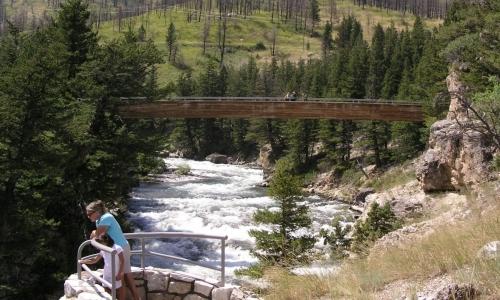 Natural Bridge Falls Boulder River Montana