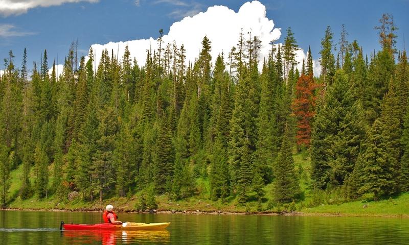 Kayak Canoe Canoeing Kayaking Hyalite Reservoir Bozeman Montana