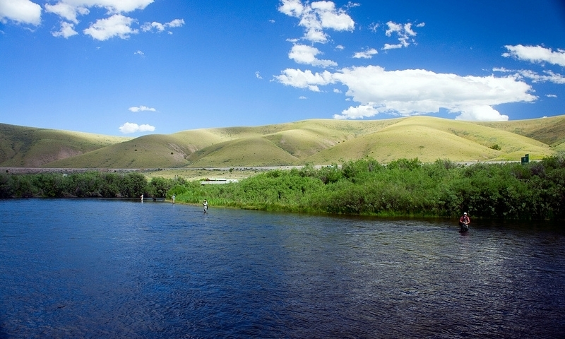 Buffalo Bend along the Beaverhead River near Bozeman Montana