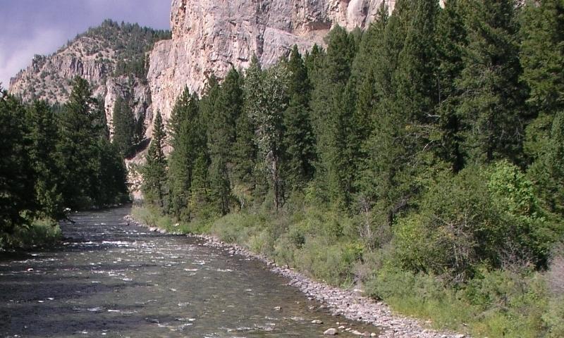 Gallatin River Canyon Montana