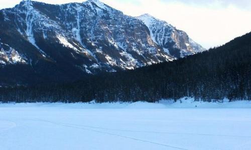 Hyalite Reservoir Bozeman Montana Winter