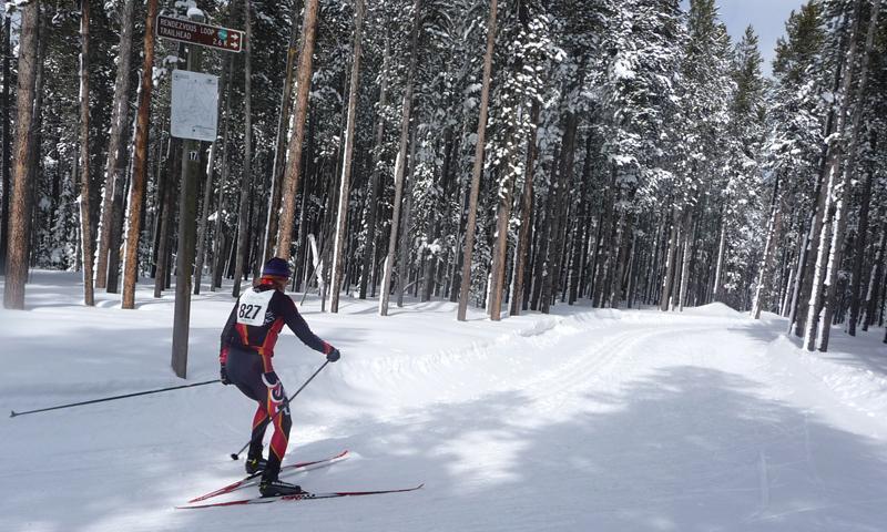 Nordic ski race in Bozeman Montana.