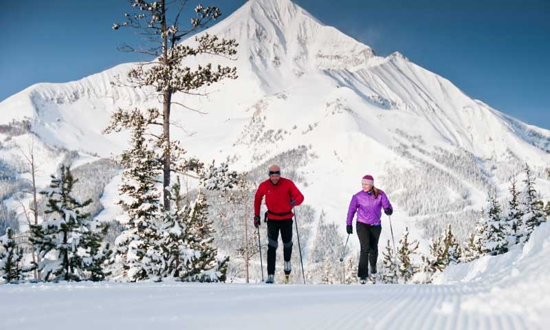 Cross Country Skiing at Lone Mountain Ranch in Big Sky