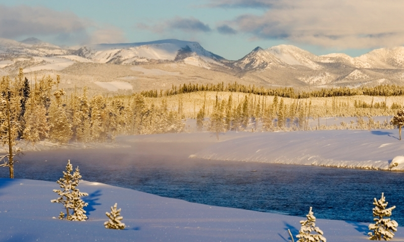 Madison River Yellowstone Winter