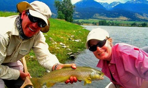fly fishing the yellowstone river in paradise valley