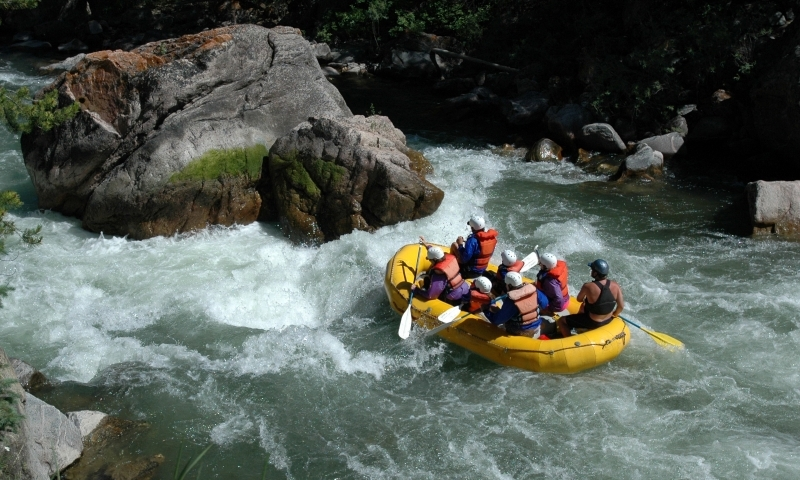 Rafting the Gallatin River