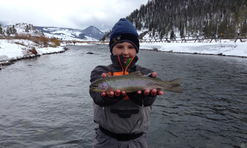 Winter Fishing on the Gallatin River near Yellowstone
