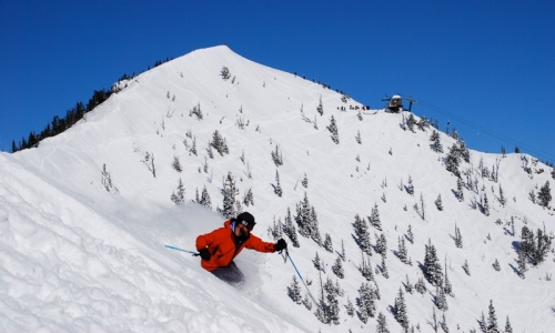 Skiing Bridger Bowl