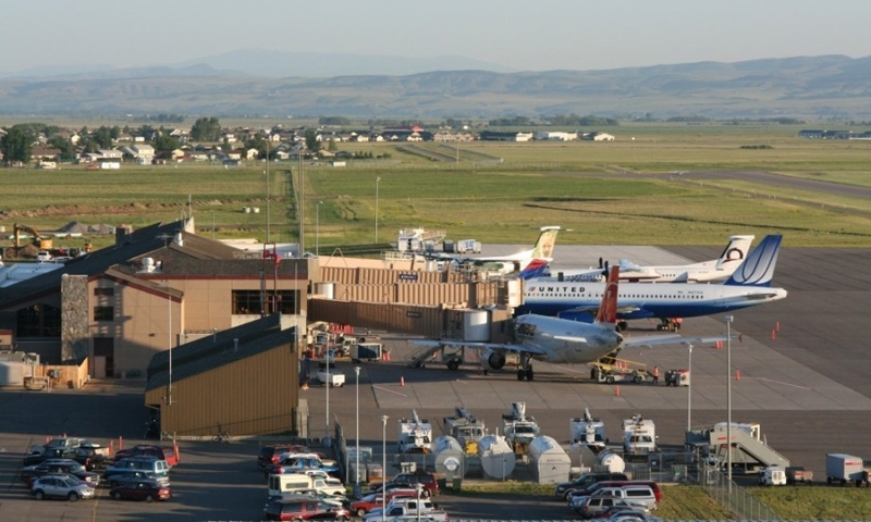 The terminal at Gallatin Field Airport.