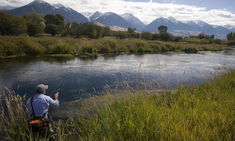 Fishing along Depuys Creek