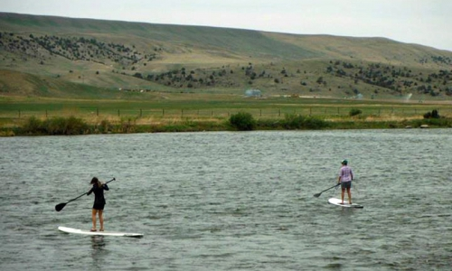 Paddle Boarding the Madison River